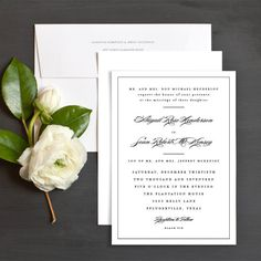 Classic Black Tie Wedding Invitations by Emily Buford | Elli