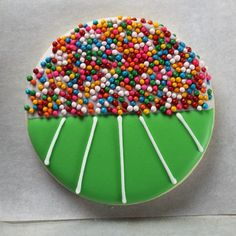 Stadium Cookie With Sprinkles