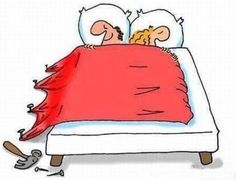 Describes my relationship perfectly.  I admit, I hog the covers.