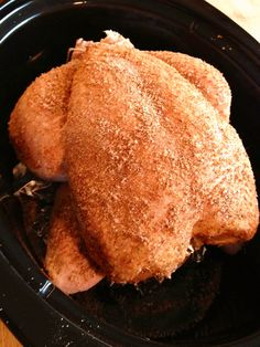 Crock Pot Roast Chicken -- Absolutely delicious. Family loves it!