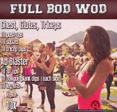 crossfit workout - total body WOD. Find more at www.HealthSupplementWholesalers.com
