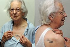 Joy Tomkins has decided to tattoo her wishes on her chest and back, in order to avoid any misunderstandings.