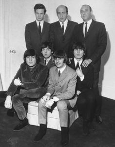 With Brian Epstein (the Beatles beloved manager) and Dick Lester (from 'Northern Publishing', -- i believe)