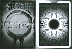 Bicycle Eclipse Playing Cards by Bicycle. $9.95. The Bicycle eclipse deck was created by Juan Perez. This is a completely customized deck.s The faces, backs, jokers, aces and court cards are all custom. You get 2 extra cards; one is a double backer and the other is a double faced gaff card. The finish is Air-Cushion.