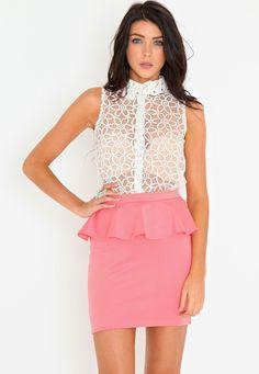 Sasy Peplum Mini Skirt