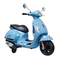Your little one will love cruising around on the Blazin Wheels Ride-On Battery Operated Super Sport Vespa. With two-speed function and forward/reverse options, this electric scooter even makes a realistic engine start up when turned on. Scooters Vespa, Moped Scooter, Motor Scooters, Polaris Ranger, Triumph Motorcycles, British Motorcycles, Ducati, Mopar, Motocross