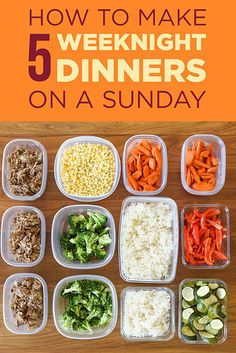 Follow this easy step-by-step guide to prepping and cooking a week's worth of dinners. | 7 Meal Prep Tips That'll Make You Feel Like A Boss