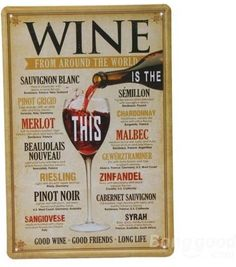 Wine Tin Sign Vintage Retro Metal Plaque Pub Bar Wall Decor    Grab this Budget Gift. Visit By_touch2 and get this bargainNow!
