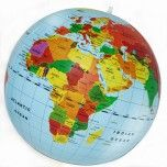 The inflatable world globe by the fabulous Tiger Tribe - both educational and fun! You can play catch and name that country at the same time! Makes a great gift for any active little kid! Little Boo-Teek - Shop Tiger Tribe Toys Online Globes Terrestres, World Globes, Kids Travel Activities, Activities For Kids, Toys Online, Online Gifts, Car Games For Kids, Tiger Tribe, Forever Living Business
