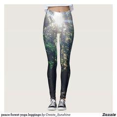 peace forest yoga leggings