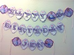 SOPHIA THE FIRST Birthday Party Banner by HappyBubby on Etsy, $35.00