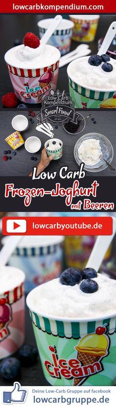 Der Low-Carb Frozen-Joghurt mit Beeren ist ein wunderbar erfrischendes Dessert, das sich super leicht zubereiten lässt. Genieße diese leckere Nachspeise mit deinen Lieblingsbeeren. Und nun wünschen wir dir viel Spaß beim Zubereiten, LG Andy & Diana. Für