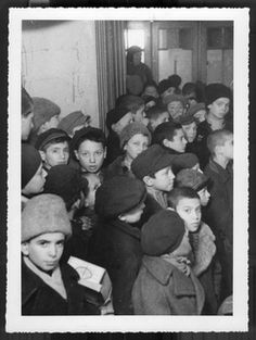 Bucharest, Romania, 1942-1944, A group of children. All perished in holocaust