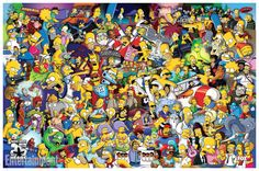 'The Simpsons' 25 years Comic-Con Poster | EW #animation #tv #thesimpsons #cartoons