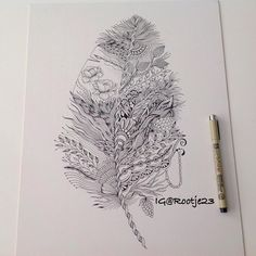 Doodle feather #ink