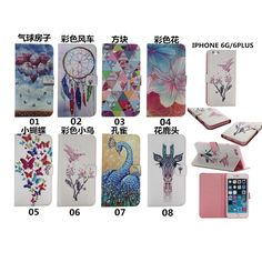 Fashion bird Peacock Butterfly pattern Diamond Style Wallet Leather Cover For Apple iphone 5 5s se / 6 6s plus Cover Phone Cases