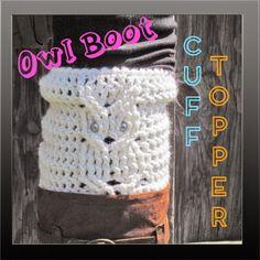 Tampa Bay Crochet: Free Crochet Pattern: Owl Cuff Boot Topper