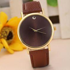 Clock Watch Women Fashion Elegant Ladies Retro Design Leather Band Analog Alloy Quartz Wrist Watch Temperament High Quality M/4 #Affiliate