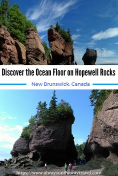 Hopewell Rocks is miraculous place I want to travel to. Last summer, I finally got the chance to spent few hours to walk on the ocean floor, as well as a few days at the Fundy Bay Area that has the highest tides in the world. #New Brunswick  #Canada