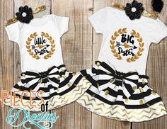Infant Baby Girl Little Big Sister Matching Clothes Romper T-shirt Dress Outfits - Baby Girl Romper - Ideas of Baby Girl Romper Matching Sister Outfits, Big Sister Outfits, Big Sister Little Sister, Twin Outfits, Little Girl Outfits, Little Sisters, Matching Clothes, Dress Outfits, Lil Sis