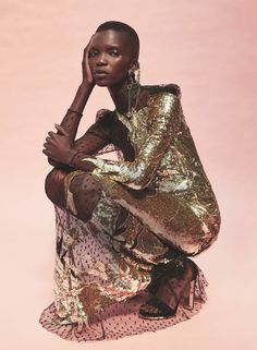 """leah-cultice: """" Achok Majak by David Roemer for Marie Claire UK September 2016 """""""