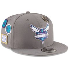 new product 2a877 2814e Men s Charlotte Hornets New Era Gray 2018 NBA Draft 9FIFTY Adjustable Hat,  Your Price   35.99