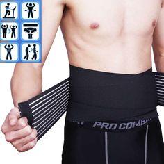 eda2955a28c LEIMI Comfortable Neoprene Double Pull Lumbar Lower Back Support Brace  Exercise Belt waistline Velcro Adjustable Belt