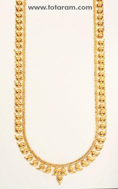 22 Karat Gold Mango Mala - GN104 - Indian Jewelry Designs from Totaram Jewelers