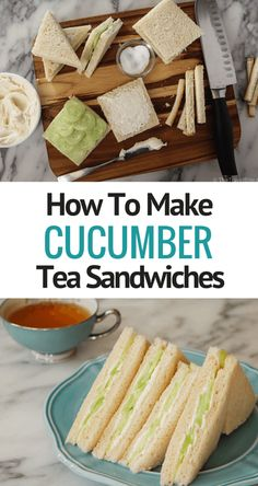 How To Make Cucumber Tea Sandwiches – Inspired by my tea experiences in London, as well as my obsession for all things Downton Abbey, I had to make cucumber tea sandwiches at home. This British tea tradition is simple to… Continue Reading → Cucumber Tea Sandwiches, Deli Sandwiches, Finger Sandwiches, Tea Party Sandwiches Recipes, English Tea Sandwiches, Party Recipes, Recipes Dinner, Appetizer Recipes, Roast Beef Sandwich
