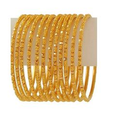 15 Latest Gold Bangles in 10 Grams gold bangles in 10 grams Gold Bangles Design, Gold Jewellery Design, Gold Jewelry Simple, Simple Necklace, Fine Jewelry, Gold Diamond Earrings, Silver Earrings, Diamond Bangle, Silver Necklaces
