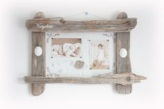 Cadre photo  en bois flotté de décoration NATYDECO en vente sur http://www.natydecocorse.com
