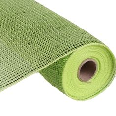 Wide Foil Deco Poly Mesh®  Apple Green with Lime Wide Foil (more foil than metallic mesh) 21 inches in width; 10 yards in length Synthetic Poly Craig Bachman Imports