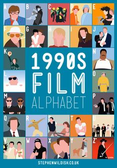 Film Alphabet Posters by British designer Stephen Wildish.
