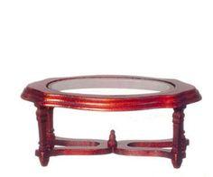 """Farve: Mahogni Med """"glas""""-plade 10,5 x 6,2 cm / 4,5 cm høj"""