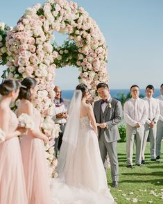 A Pastel Color Palette Ensured This Hawaiian Destination Wedding Was So Romantic Wedding Ceremony Ideas, Wedding Party Songs, Wedding Ceremony Script, Wedding Party Dresses, Wedding Ceremonies, Wedding Venues, Wedding Captions For Instagram, Hawaiian Destination Weddings, Pastel Wedding Colors