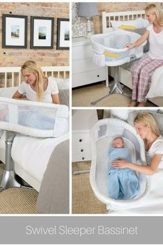 Great bassinet to keep baby closeby and make tending to baby easier for mom and dad #baby #afflink #babygear #pregnancy #babyregistry
