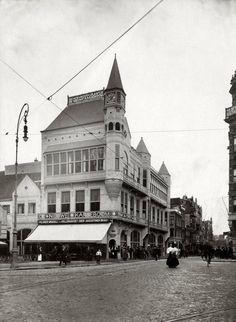 1909 Cafe Restaurant de Nieuwe Karseboom, hoek Rembrandtplein/Amstelstraat