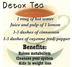 Detox tea to raise metabolism, cleanse your system, aid weight loss