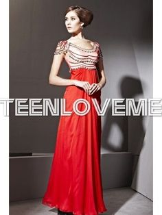Elegant Red Formal Dresses Backless Flattering Tencel Beaded Dress - Evening Dresses - Special Occasions