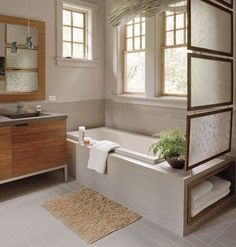 Master Bathroom Decorating & Design: Wrap the Room in Tile - 65 Calming Bathroom Retreats - Southern Living Bad Inspiration, Bathroom Inspiration, Bathroom Ideas, Bathroom Designs, Bathroom Interior, Home Design, Design Ideas, Southern Living Rooms, Tub Surround