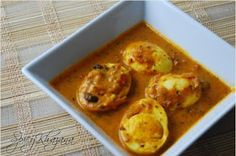 Sri Lankan Food recipes: Egg Curry the egg curry is popular in most regions of the sub-continent the variations in the sauce makes it  unique its region like here in sri-lanka coconut milk may be used.