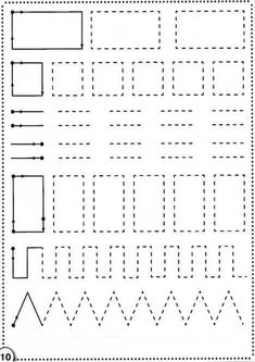 Trace the Dotted Lines Worksheets for Kids - Preschool and Kindergarten Fun Activities For Toddlers, Preschool Learning Activities, Free Preschool, Teaching Kids, Kids Learning, Line Tracing Worksheets, Printable Preschool Worksheets, Kindergarten Math Worksheets, Tracing Lines