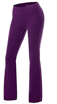 10d8a5472de Casual Solid Sport High Waisted Stretch Boot Leg Yoga Pants     You can  find out more details at the link of the image. Women s Golf Clothing