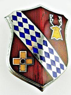 BUICK COAT ARMS AUTOMOBILE ENAMEL RADIATOR GRILLE BADGE Car Badges, Car Logos, Auto Logos, Company Badge, Detroit Motors, Car Hood Ornaments, Buick Cars, Porsche Logo, Car Accessories