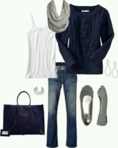 Sweater outfit....ridiculously cute. I wish I could find a sweater like this that actually looked good on me!