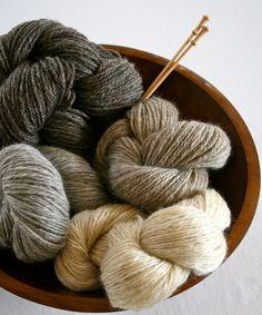 100% Romney wool yarn sport wt. Natural Light by thesachemfarm