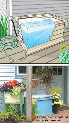 Rain barrel option (it's a kit you buy for hte plastic storage bag that goes…