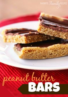 Make a double batch - these disappear fast! #peanutbutterbars #peanutbutter