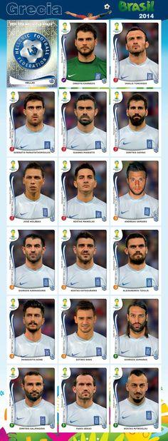 PANINI - Equipo - Grecia - Mundial Brasil 2014
