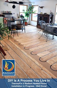 Yes you can have hardwood floors over hydronic radiant heating heat transfer plates and a high efficiency boiler system all from radiant engineering they have not installed the finish flooring but do it yourself solutioingenieria Choice Image